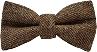 herringbone tweed bow tie
