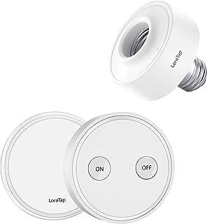 LoraTap Juego Portalámpara Inteligente Adaptador Inalámbrico para Lámpara Luz Bombilla LED con Mando a Distancia Control R...