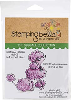 Stamping Bella EB808 Cling Stamps-Oddball Poodle