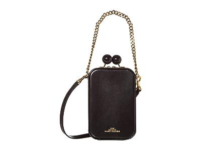Marc Jacobs The Vanity Crossbody (Black) Handbags