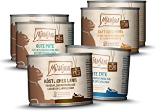 Mjamjam Mixpakket V Kattenvoer, Natvoer, Puur Vleesgenot, 6 Stuks (6 x 200 g)