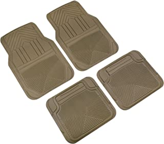 Highland 4447800 Weather Fortress Tan Premium Synthetic All Weather Floor Mat - 4 Piece