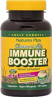 NaturesPlus Source of Life Immune Booster Adult Formula, Rapid & Extended Release - 90 Vegetarian Tablets - Natural Immuni...