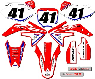 CUSTOMIZABLE Senge Graphics Kit with RIDER I.D. compatible with Honda 2007-2020 CRF 150R, Works Red Complete Graphics Kit with RIDER I.D.