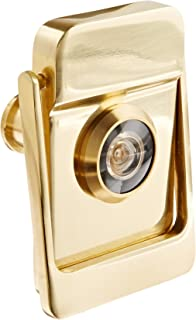 Rockwood 614V.3 Brass Door Knocker with Door Viewer, 2-1/8