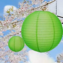 Paper Lanterns for Wedding Party Festival Decoration - Mix and Match Colours 12 pcs Grass Green No