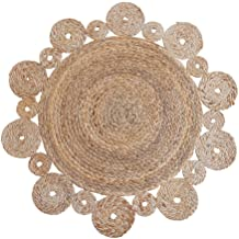 Modern Rugs, Creative Jute Rug for Living Room Hand-woven Round Coffee Table Mats Computer Chair Cushion Bedroom Bed Side ...