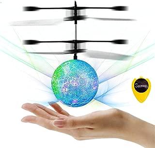 Slepwel UFO Flying Ball Magic led Light with Remote (Light-Blue)