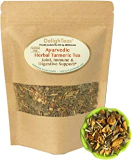 Ayurvedic Anti-Inflammatory tea - Organic loose leaf Turmeric Tea with Ginger, Lemongrass and Licorice (loose tea, 6 oz.)