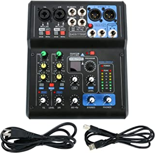 $66 Get Professional Mini 6 Channel Live Mixer Mixing Studio Audio Sound Mixer Console with USB Interface and Sound Effect