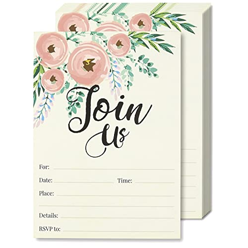 Watercolor Join Us Invitation Cards