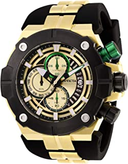 Men's Sea Hunter Stainless Steel Quartz Watch with Silicone Strap, Black, 31 (Model: 28051)