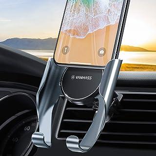 VANMASS Handyhalterung Auto Handyhalter fürs Auto Lüftung Memory Funktion Autohalterung mit 2 Patentiertet Lüftungsclips Universale Smartphone Kfz Handyhalterung für Samsung iPhone Huawei Xiaomi LG
