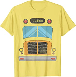 Pretend I'm a School Bus Lazy Halloween Costume T-shirt T-Shirt