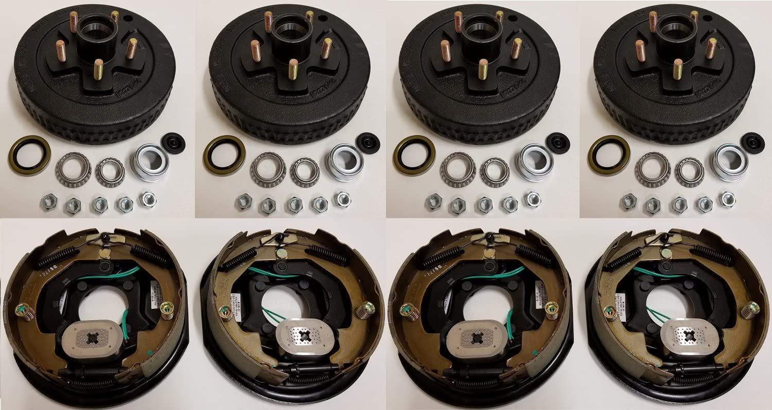 2-Pack Trailer Brake Backing At the price of surprise Plates 10 NEW before selling ☆ in. 2RH 2LH Hub w 4 Dru