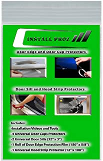Install Proz Self-Healing Clear Paint Protection Film Kits (Bundle-Hood Strip, Door Edge, Door Cup, Door Sill)