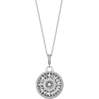 With You Lockets-Fine Sterling Silver-Custom Photo Locket Necklace-That Holds Pictures for Women-The Shelly