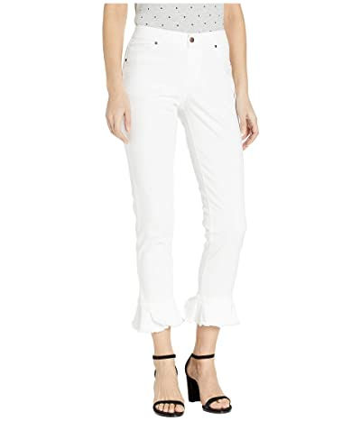 HUE Tulip Flare Hem Denim Skimmer Leggings (White) Women