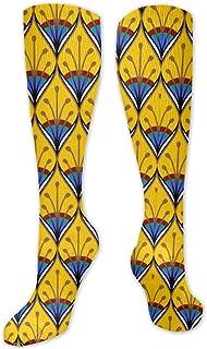 MISS-YAN, Gold-Pea Calcetines de plumas para hombres y mujeres, divertidos y locos para carreras, deporte, deporte, trel o calcetines The Calf