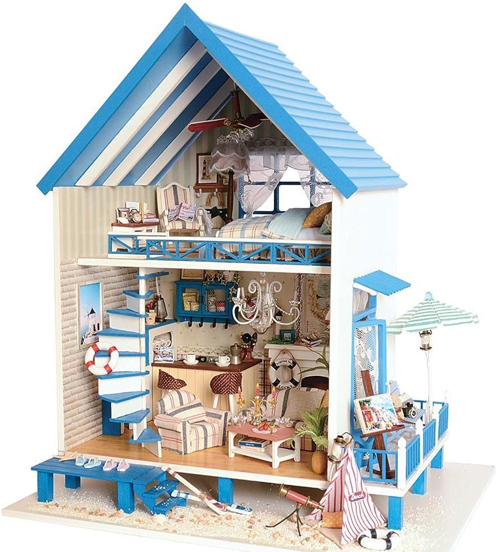 Purelemon DIY House Miniature Dollhouse Kits for Romantic Valentine's Birthday Christmas Gift (Aegean Sea)