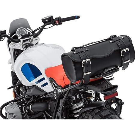 Stoverinck Hecktasche Motorrad Motorradtasche Leder Gepäckrolle Hecktasche Festus 11 Liter Unisex Chopper Cruiser Ganzjährig Schwarz Auto