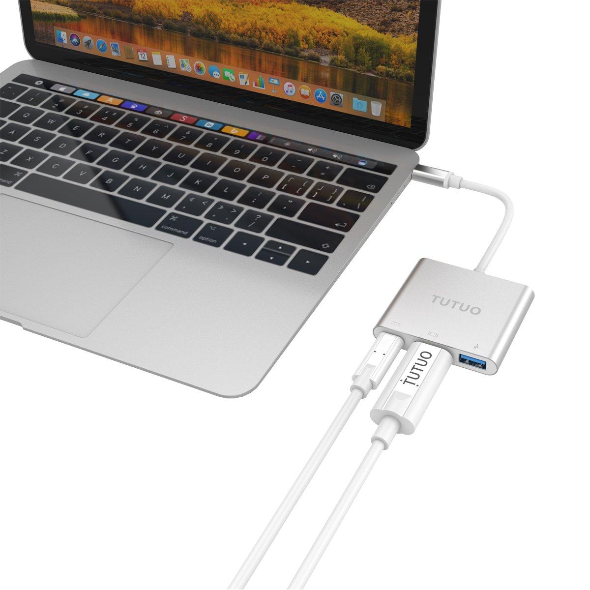TUTUO Nintendo Switch Dock USB Tipo C a HDMI Adaptador USB Hub Convertidor Cable USB 3.0 y USB C PD (Power Delivery) Hub para Nintendo Switch, Macbook Pro 2017 2016, Samsung Galaxy