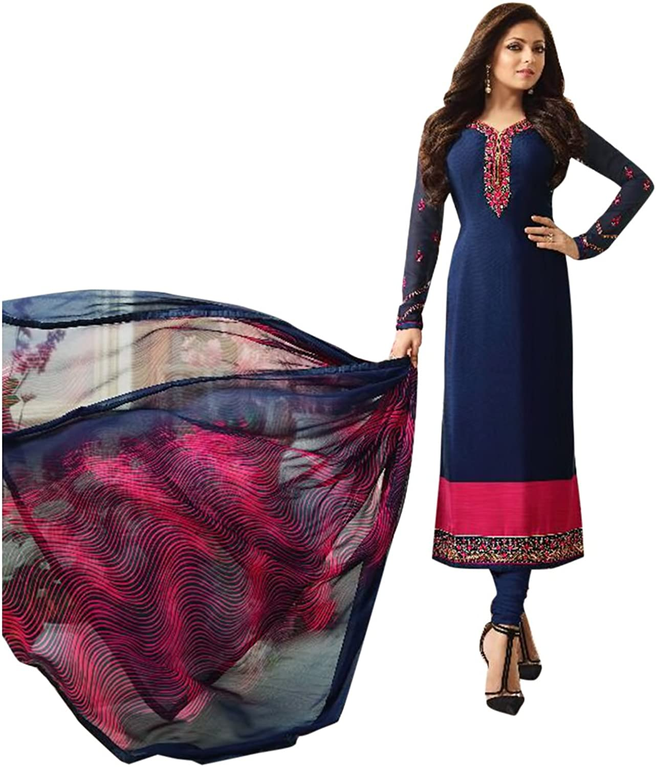 BOLLYWOOD DESIGNER NEW LAUNCH LONG SALWAR KAMEEZ GOWN LONG HEAVY WEDDING CEREMONY PARTY WEAR BY ETHNIC EMPORIUM