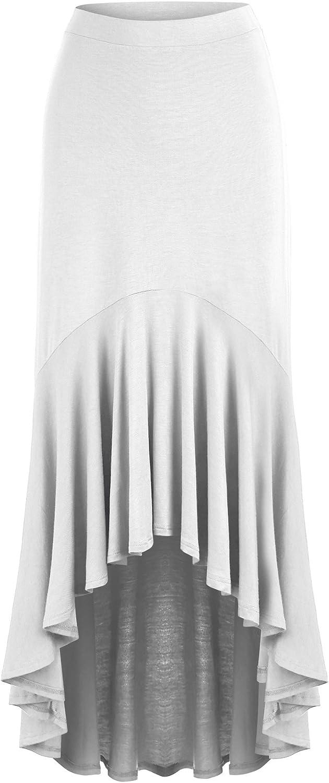 MBJ Boston Mall Direct stock discount Womens Asymmetrical High Low Ruffle Hem Made Skirt in - USA