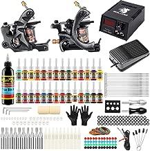 Solong Tattoo Kit for Beginners Tattoo Gun Kit 2 Pro Machine Tattoo Machine Kit Complete Tattoo Kit 28 Inks TK224