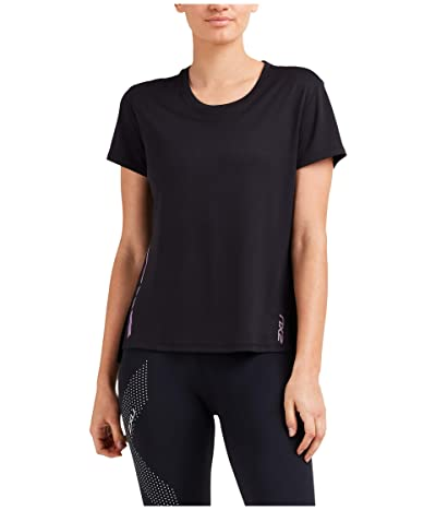 2XU XVENT G2 Short Sleeve Tee (Black/Multicolour Reflective) Women