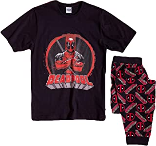 Mens Marvel Deadpool Pyjamas Pjs PJ Size Small Nightwear Pajama Gift