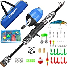 ODDSPRO Kids Fishing Pole, Portable Telescopic Fishing Rod and Reel Combo Kit - with Spincast Fishing Reel Tackle Box for ...