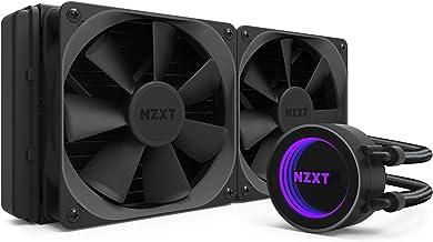 NZXT Kraken X52 240 mm - Refrigerador líquido de CPU RGB todo en uno - Con tecnología CAM - Bomba de alto rendimiento -  Ventilador de radiador Aer P 120 mm (se incluyen 2)