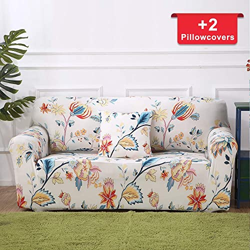 Amazing Floral Loveseat Slipcovers Amazon Com Pabps2019 Chair Design Images Pabps2019Com