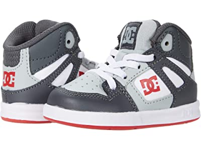 DC Kids Pure High-Top (Toddler) (Grey/Red) Boy