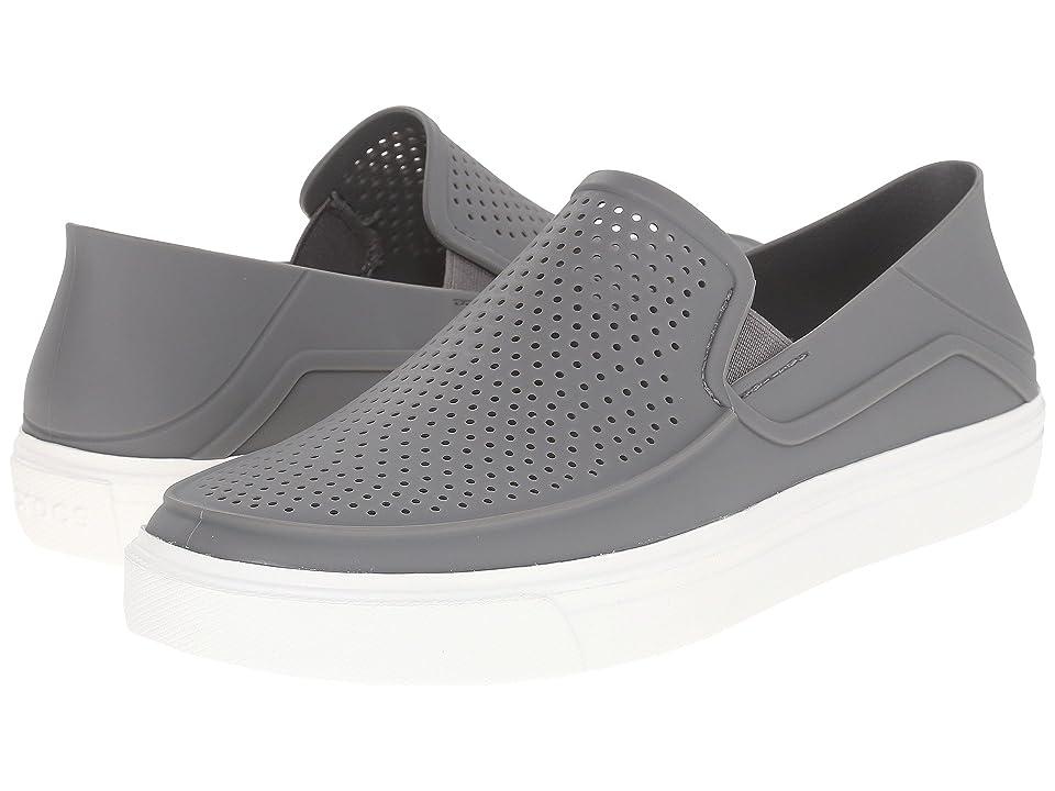 Crocs CitiLane Roka Slip-On (Smoke/White) Slip on Shoes