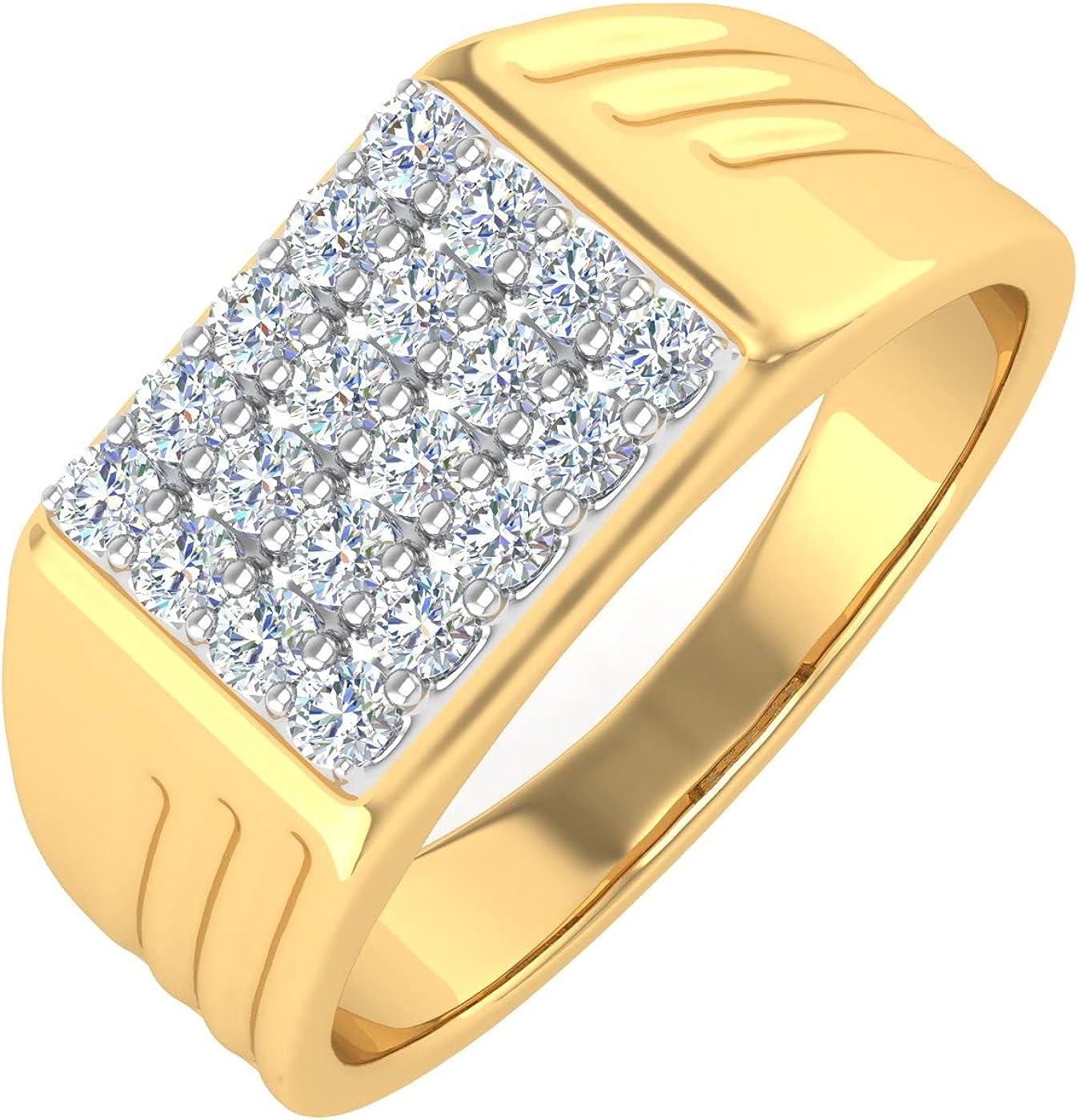 1/2 Carat Men's Diamond Wedding Band Ring in 14K Gold