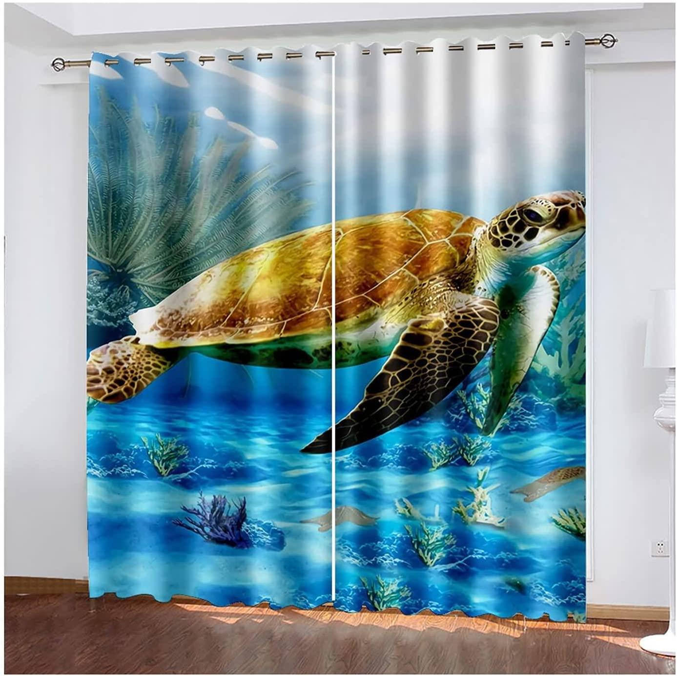 Window Curtains 2 Panels Blackout lowest price Drapes Fresno Mall Tu for Living Sea Room