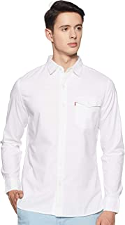 Levi's 17654-0033 Men's Regular Fit Plain Crew Neck Shirt, White, X-Large