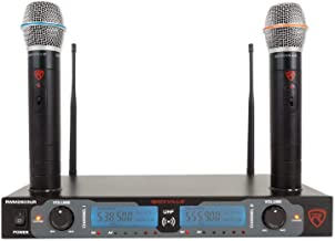 Rockville, 2 RWM2603UR UHF Wireless Dual Recharageable Handheld Microphone System, XLR Connector