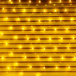 YZHGCXS Christmas mesh net Light, 200 LED lamp Beads, 9.8 feet x 6.6 feet, 8 Mode Adjusters (with Timing Function), Suitable for Wedding, Party, Indoor and Outdoor Background Decoration (Warm White)