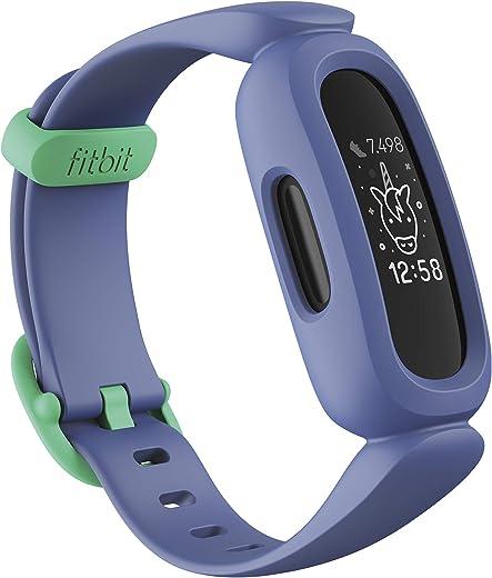 Fitbit Ace 3 Activiteitstracker voor kinderen vanaf 6 jaar. Motiverende geanimeerde wijzerplaten & Batterijduur tot 8 dagen