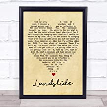 Landslide Vintage Heart Quote Song Lyric Print