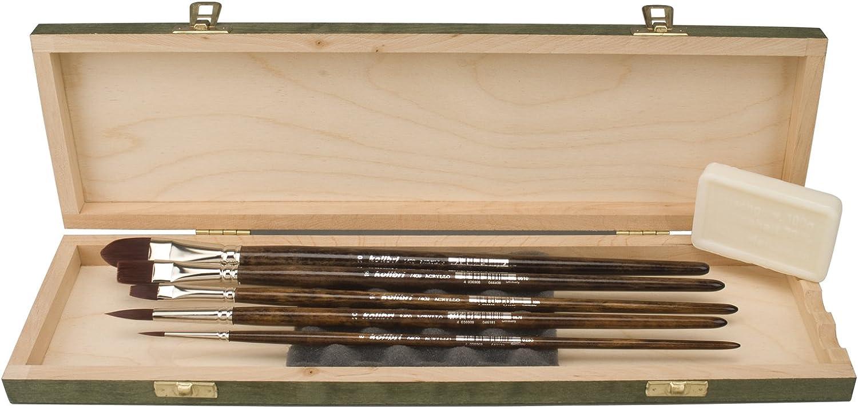 K-HB7474 - Acrylmalpinsel- Acrylmalpinsel- Acrylmalpinsel- Set, Deutsche Spitzenqualität in eleganter Holzbox  GESCHENKIDEE    B00GOAC8XW   Großer Verkauf  f3904c
