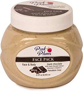 PINK PLUMS Glowing Dark Chocolate Facepack with Vitamin-E, 250 ml