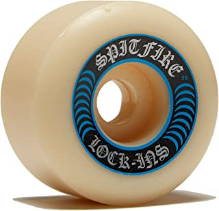 Spitfire Wheels Formula Four Lock Ins White / Blue Skateboard Wheels - 55mm 99a (Set of 4)