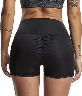 FITTOO Women's High Waisted Bottom Scrunch Butt Pants Ruched Yoga Shorts Push up Butt Lift Trousers