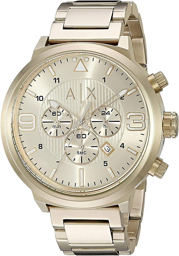 Emporio armani,  orologio da donna,  in acciaio inossidabile dorato, AX1368