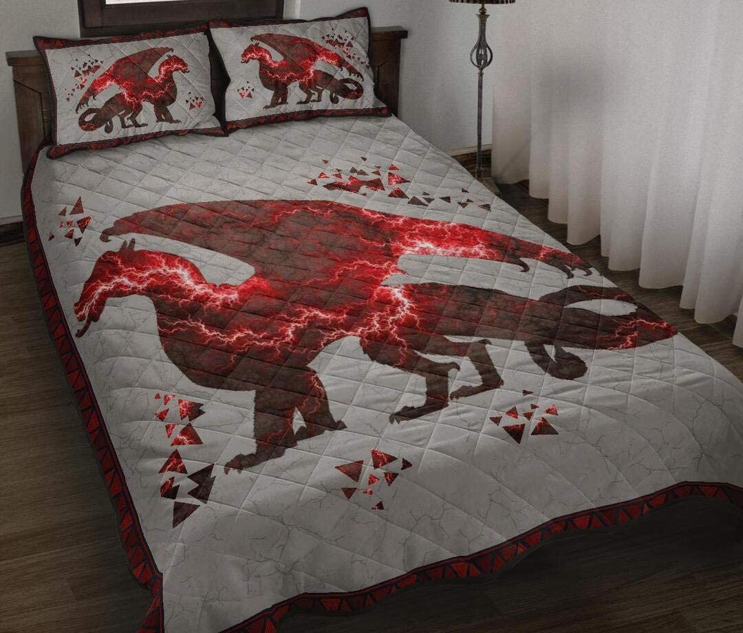 Personalized Dragon Beautiful safety Quilt Set Birthday Gift Max 87% OFF Xmas