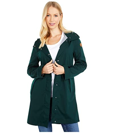 Save the Duck Bark X Long Hooded Coat (Scarab Green) Women